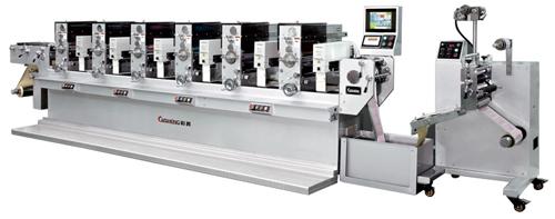 彩升cs-320间歇式商标轮转印刷机