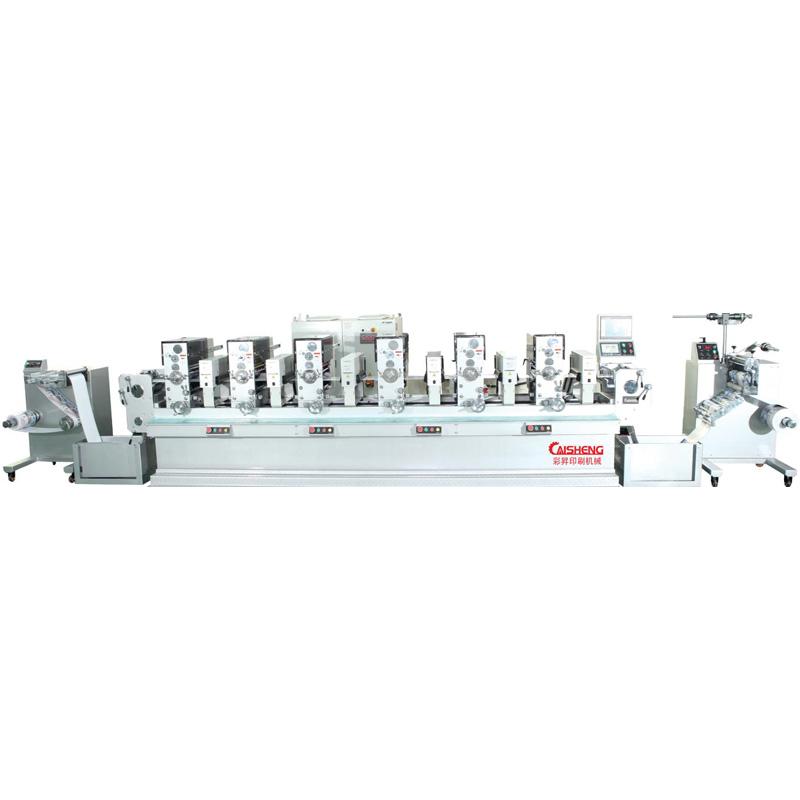 彩升cs-280间歇式商标轮转印刷机